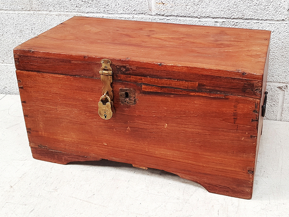 Rustic Wooden Chest Brown