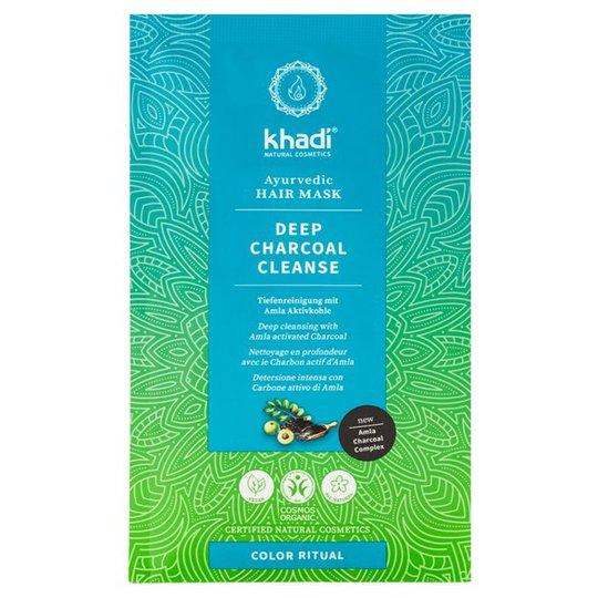 Khadi Deep Charcoal Cleanse Ayurvedic Hair Mask, 50 g