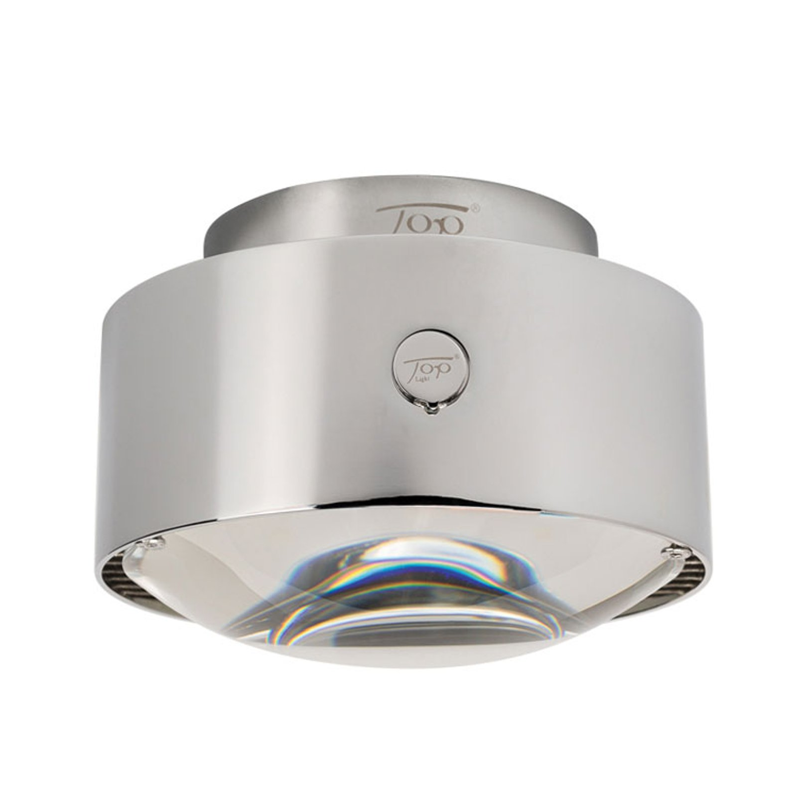 LED-taklampe Puk Maxx Plus, krom matt