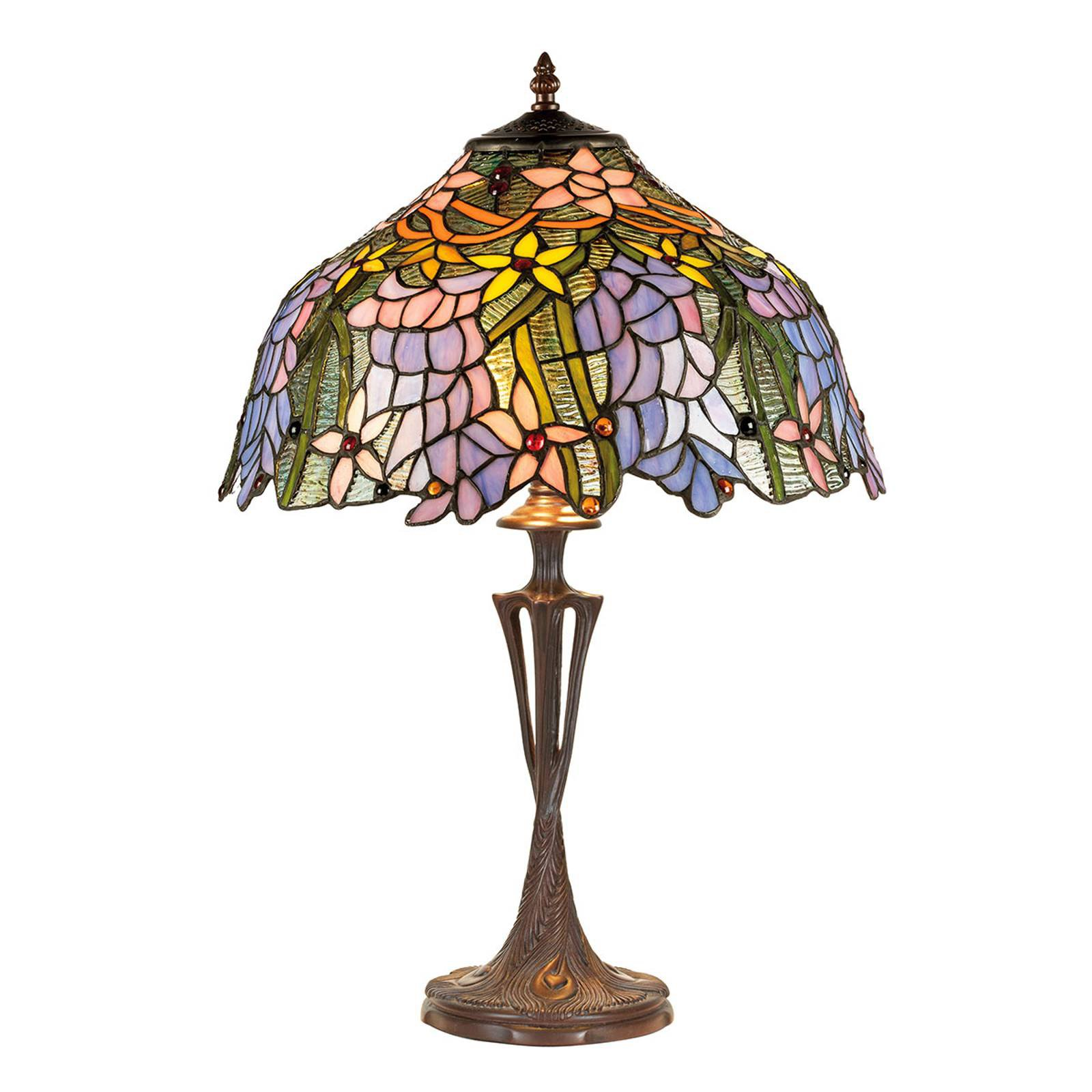 Bordlampe KT1082+PBLM11 i Tiffany-stil