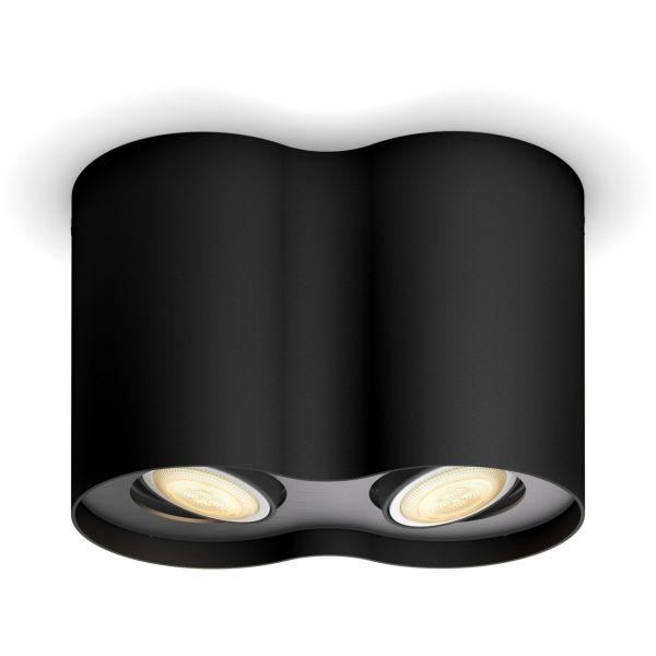 Philips Hue Pillar Kohdevalaisin kaksiosainen, 5,5W LED, GU10 Musta