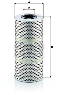 Suodatin, työhydrauliikka MANN-FILTER HD 1164/1 x