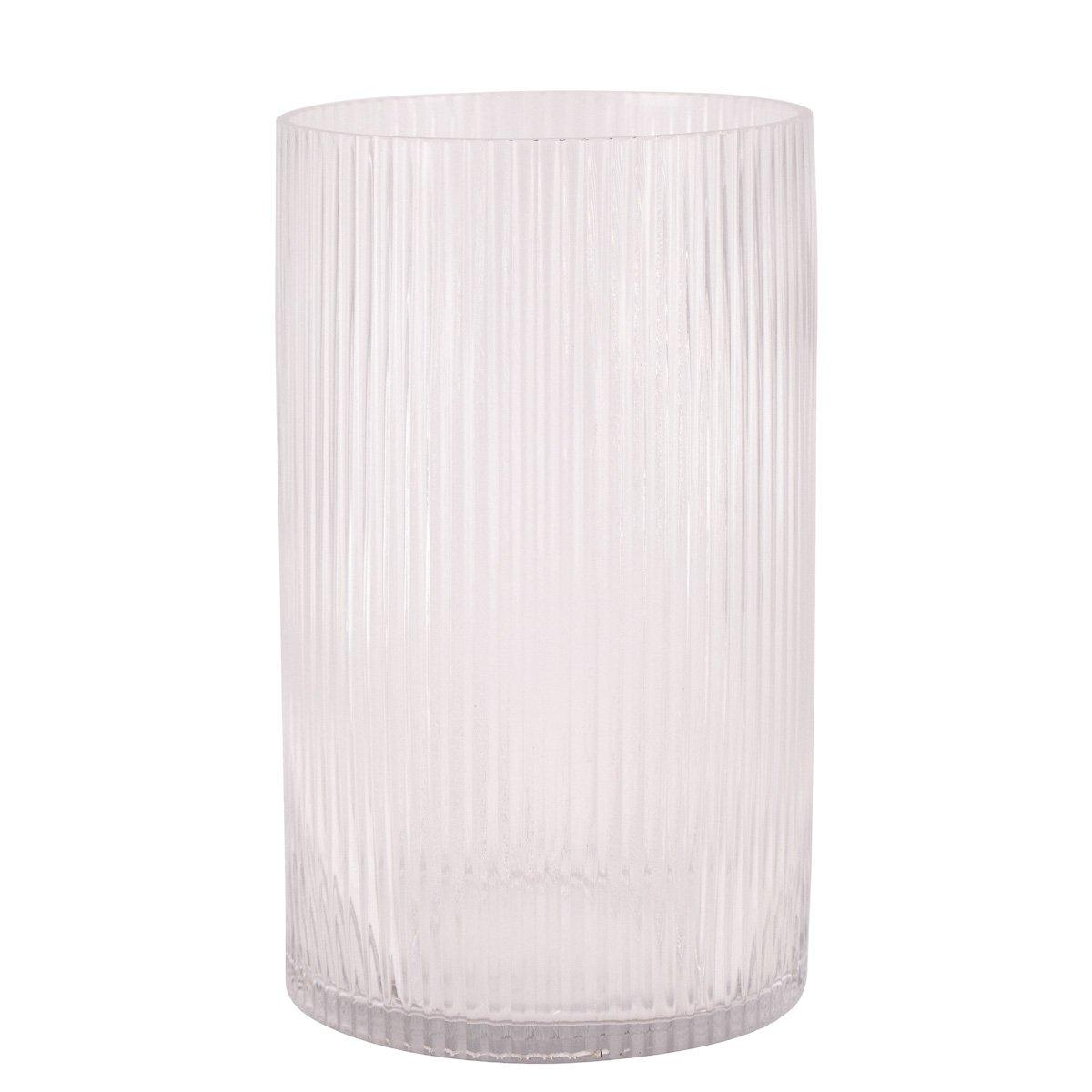 Vase/lykt Oda rille klar 25cm