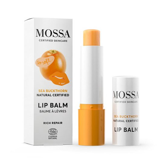 Mossa Rich Repair Lip Balm - Sea Buckthorn, 4,5 g