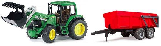Bruder Traktor John Deere 6920 Med Frontlaster Og Tilhenger