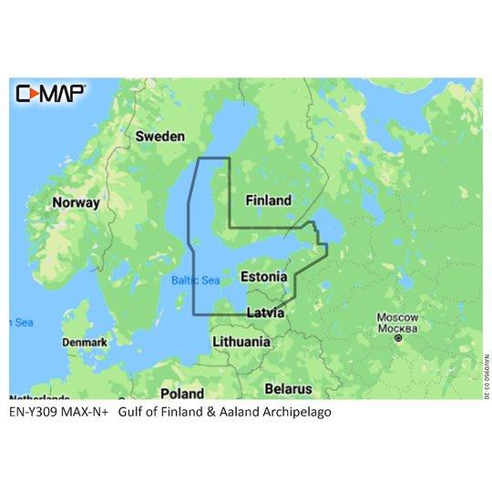 C-MAP MAX-N Y309 Finska viken sjökort 32GB