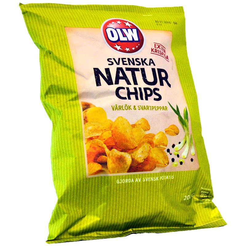 Naturchips Vårlök & Svartpeppar - 60% rabatt