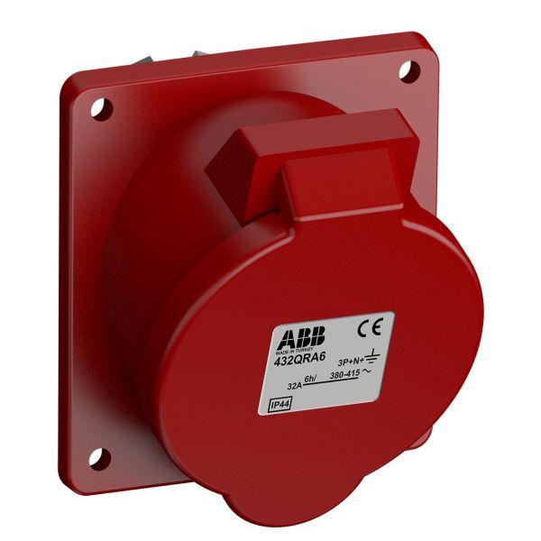 ABB 2CMA102387R1000 Paneluttak hurtigtilkoblet, vibrasjonsbestandig Vinklet, 5-polet, 32 A