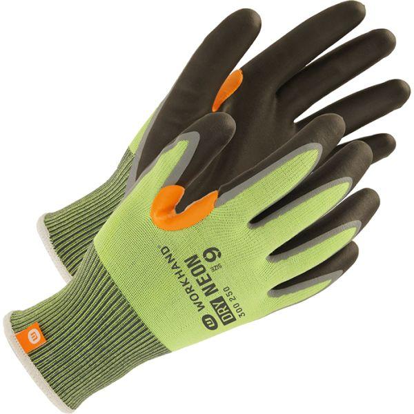 Workhand Dry Neon Vinterhanske uten dots Størrelse 8