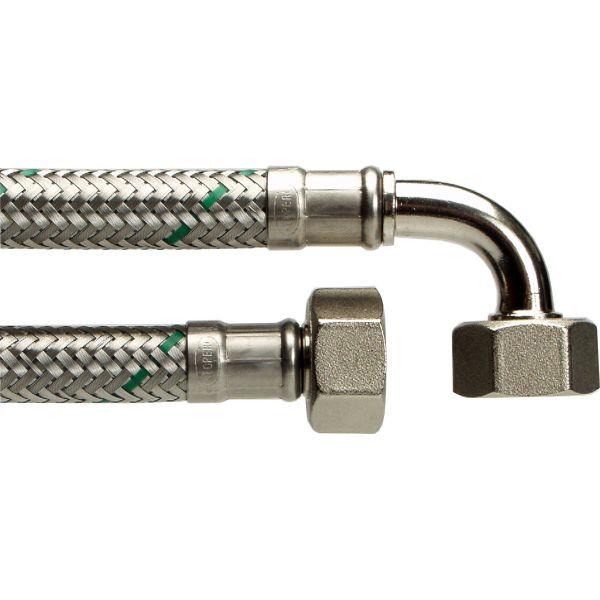 Neoperl 8190912 Tilkoblingsslange rett/vinkel, 15x15 1250 mm