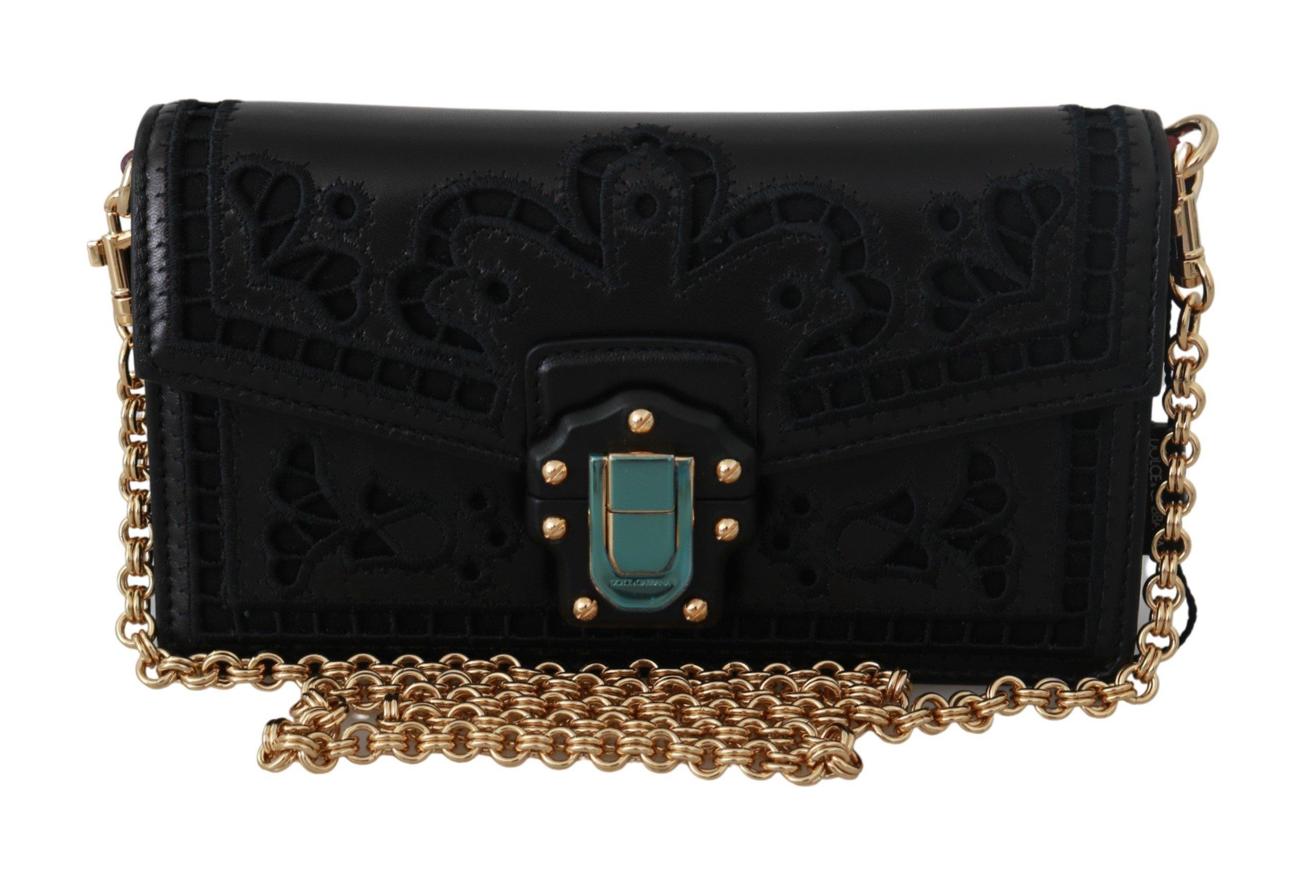 Black Shoulder Crossbody Women LUCIA Leather Bag