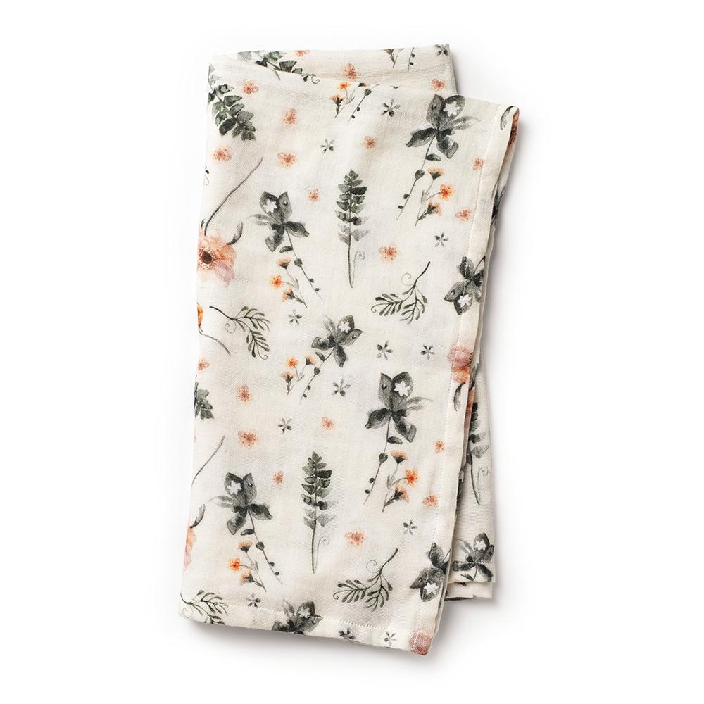 Bamboo Muslin Blanket - Meadow Blossom
