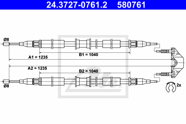 Käsijarruvaijeri ATE 24.3727-0761.2