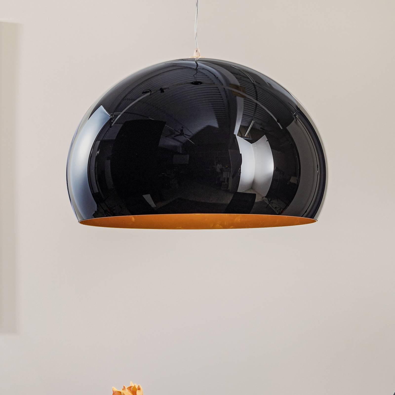 Kartell FL/Y -LED-riippuvalaisin, kiiltävä musta
