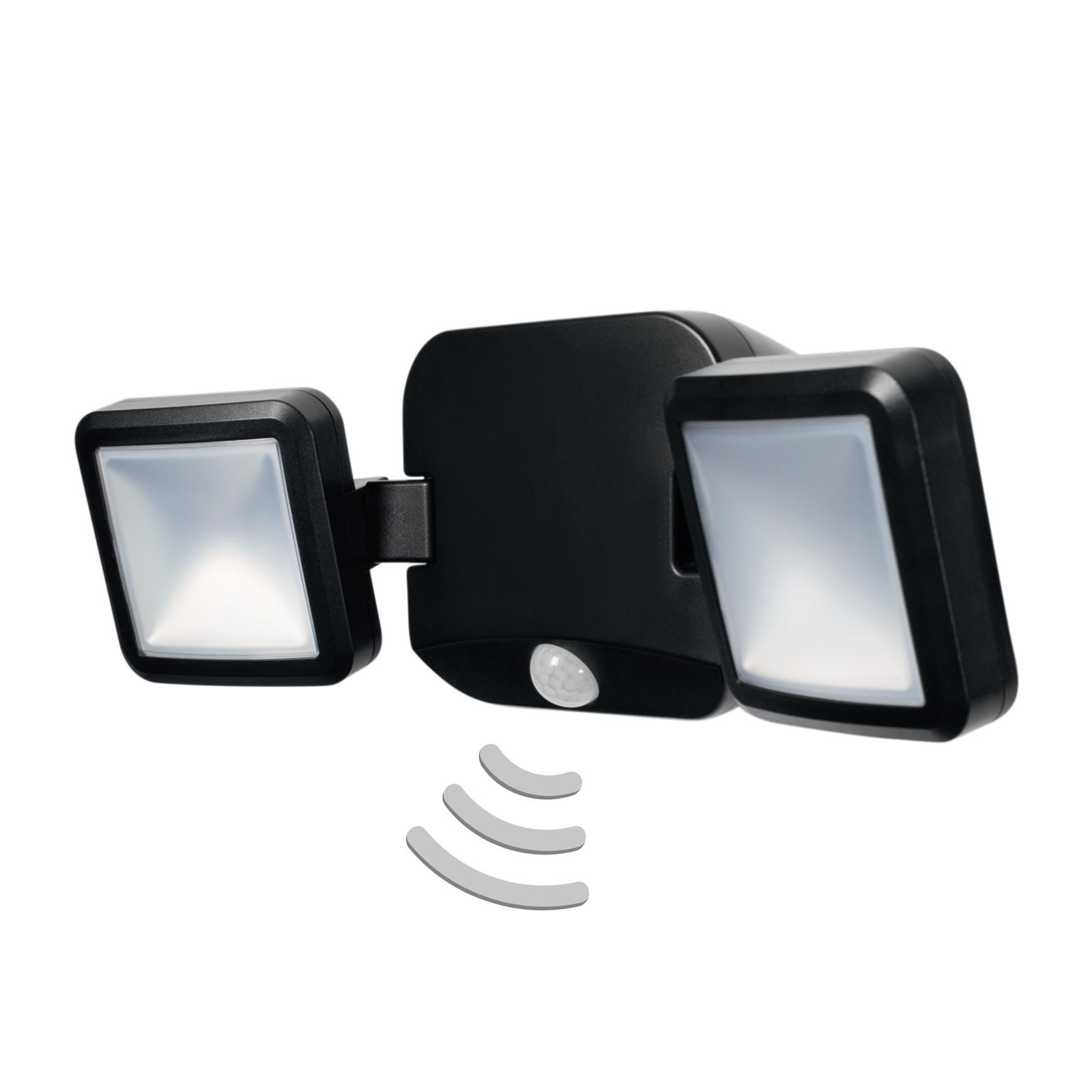 LEDVANCE Battery Spotlight -ulkoseinä 2-lamppuinen
