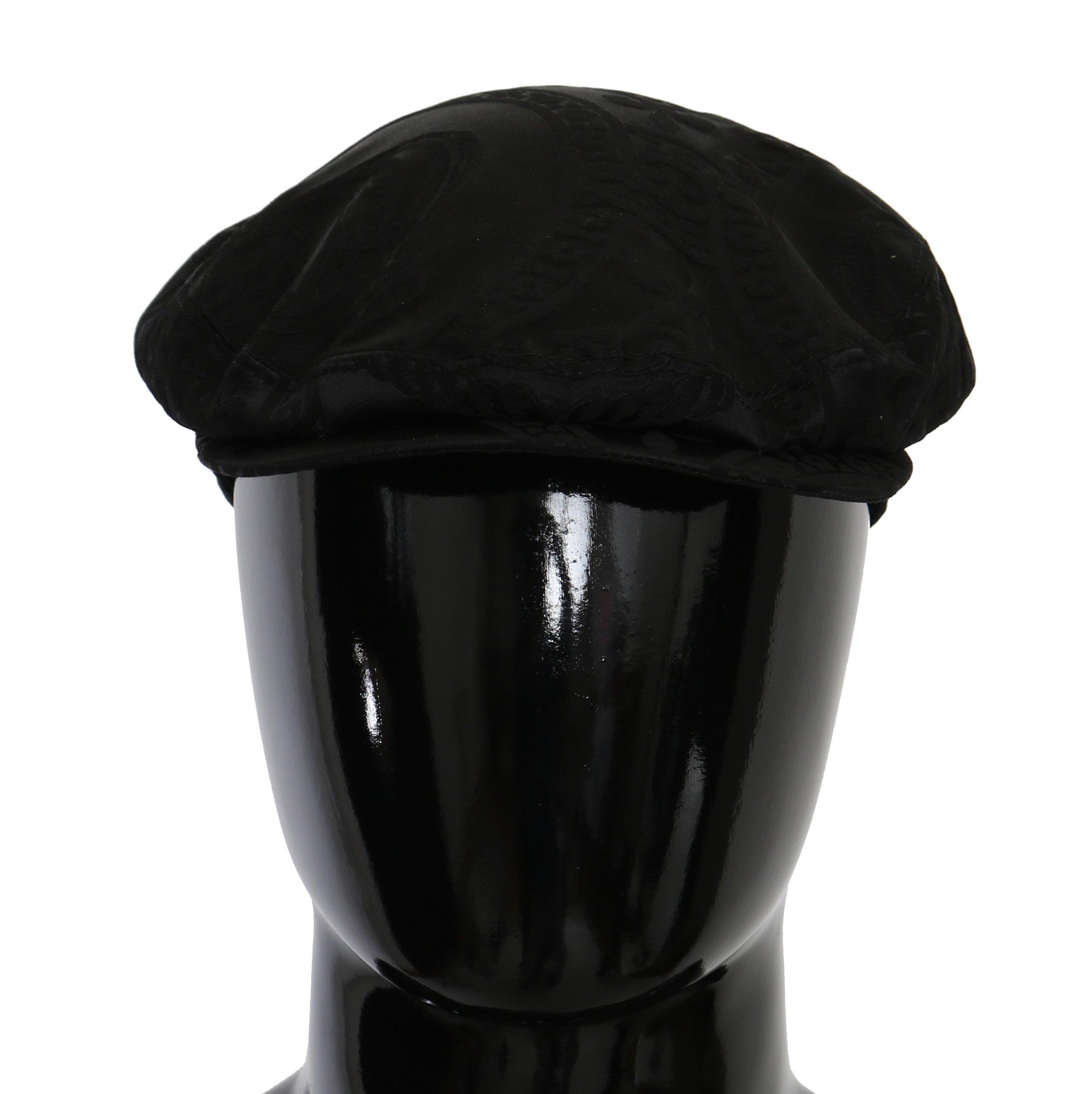 Dolce & Gabbana Men's Brocade Casual Hat Black HAT9067 - 59 cm|L