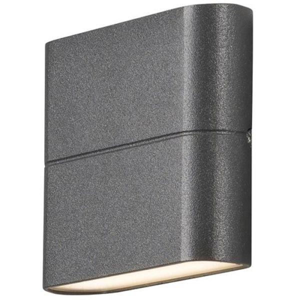 Konstsmide Chieri Seinävalaisin 2x3 W, LED, antrasiitti