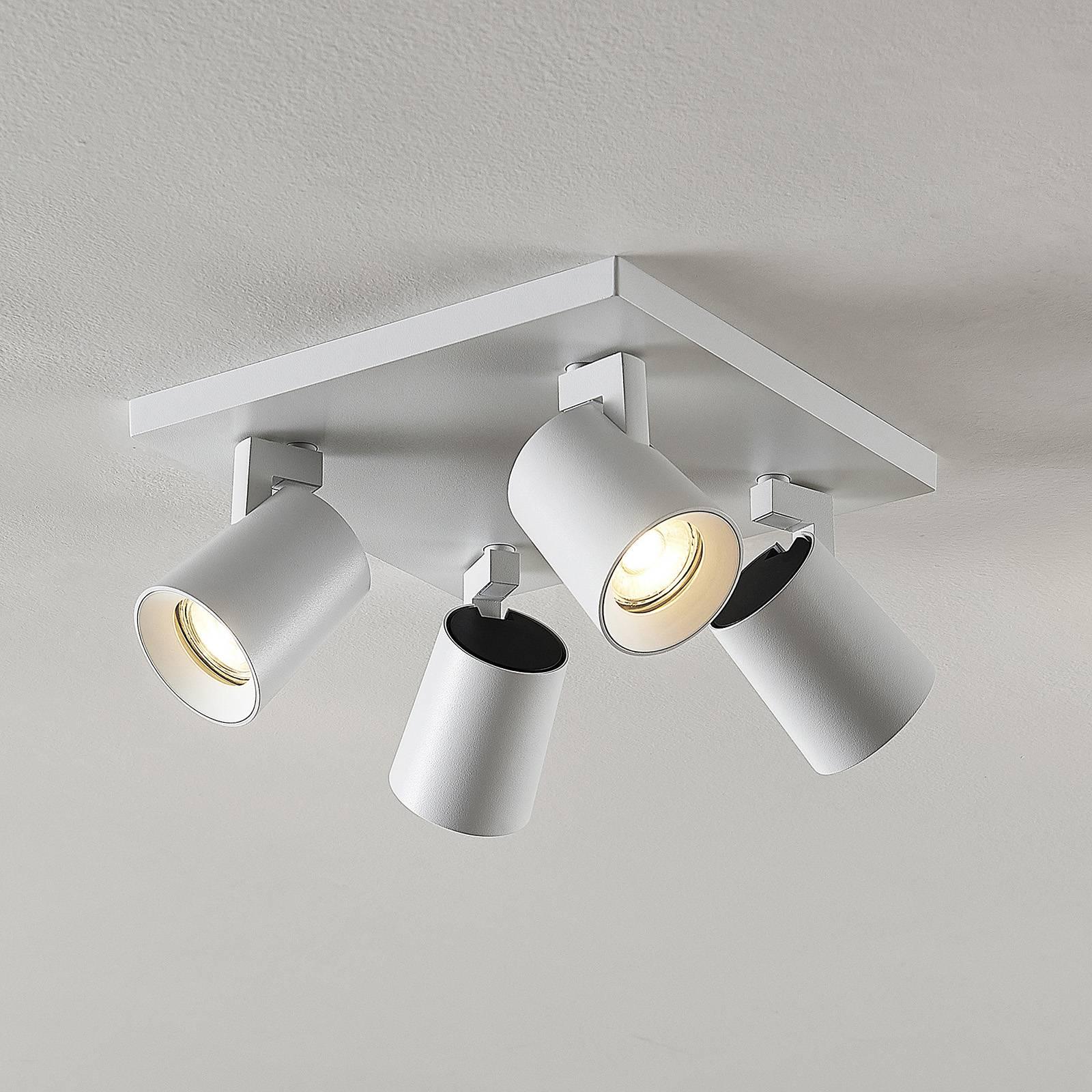 Arcchio Iavo-spotti kulmikas, valkoinen, 4 lamppua