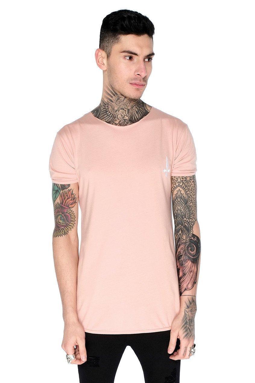 Training Men's Crew Neck T-Shirt - Dusty Pink, Small