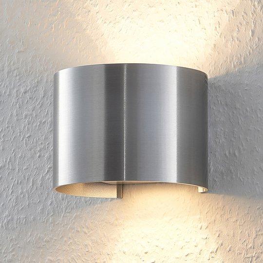 Alumiininvärinen, pyöreä LED-seinävalo Zuzana