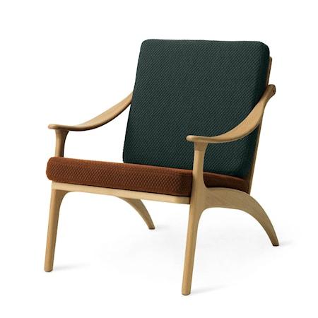 Lean Back Lounge Chair Spicy brown/Petrol Ek