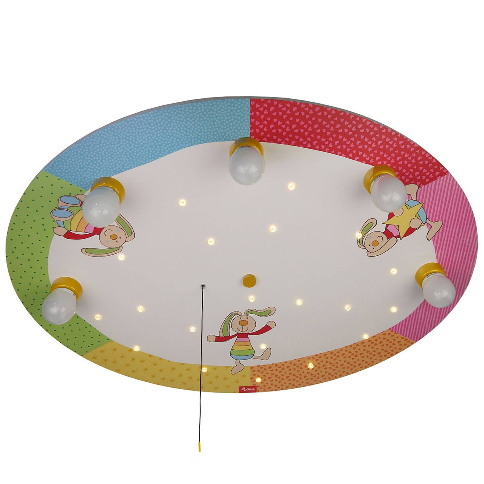 Rainbow Rabbit - rund taklampe med LED