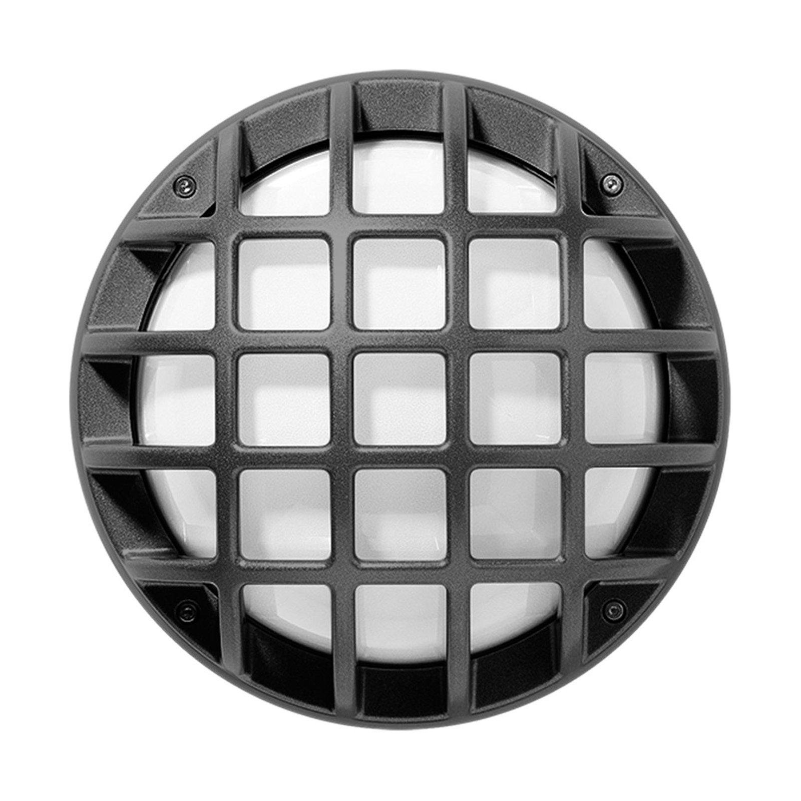 Utevegglampe Eko+21/G, E27, metallisk antrasitt