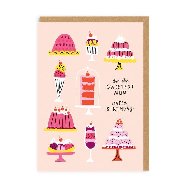 Sweetest Mum Birthday Greeting Card