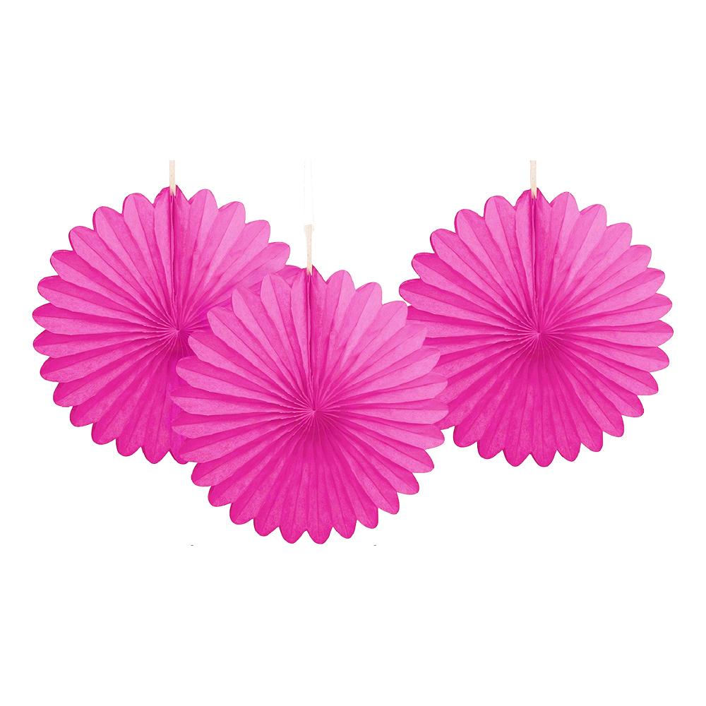 Pappersfjädrar Rosa Mini Hängande Dekoration - 3-pack