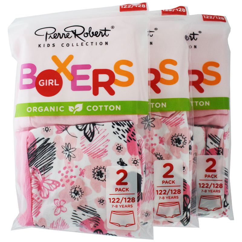 Trosor Boxers Barn 122-128 Rosa 6-pack - 46% rabatt