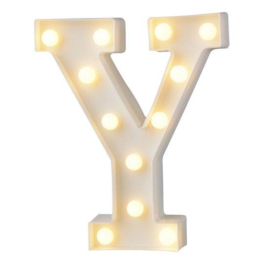 Bokstav med LED-Belysning - Bokstav Y