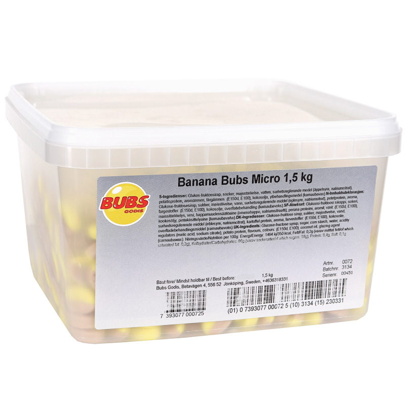 Godis Banana Bubs Micro - 20% rabatt