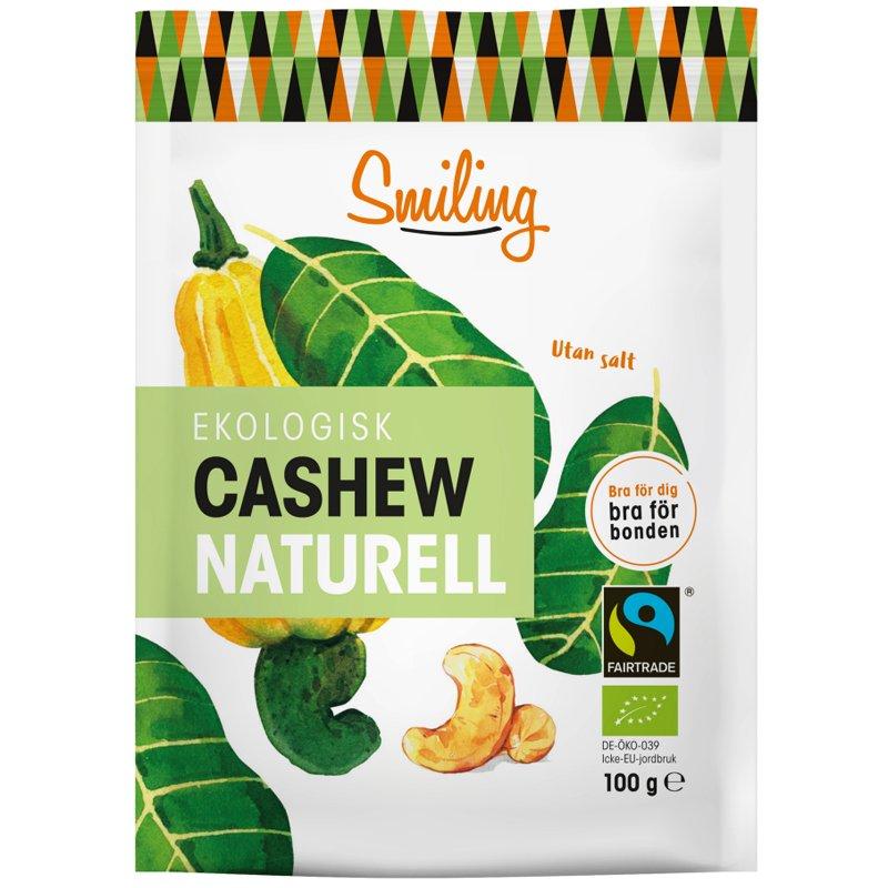 Luomu Cashewpähkinät Naturell - 34% alennus
