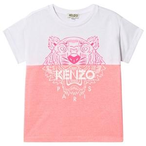 Kenzo Color Block Tiger T-shirt Rosa 8 years