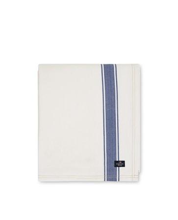 Icons Cotton Herringbone Duk Vit/Blå 150x250cm