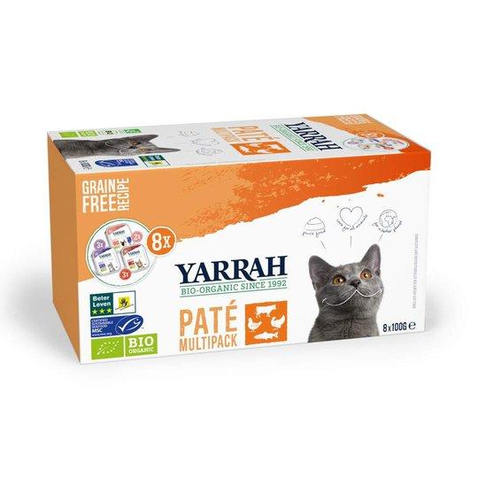 Yarrah Organic Cat MultiPack Paté Grain Free 8 x 100 g