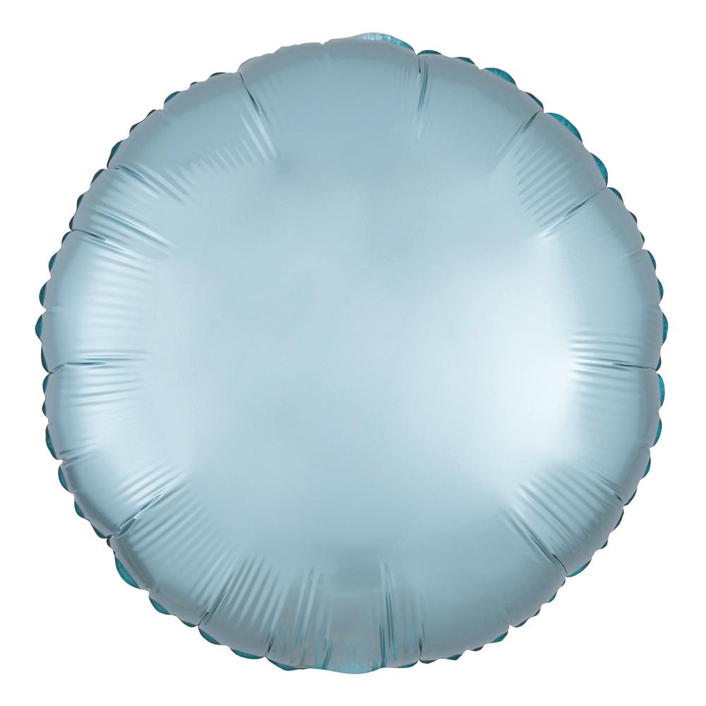 Folieballong Rund Satin Pastellblå