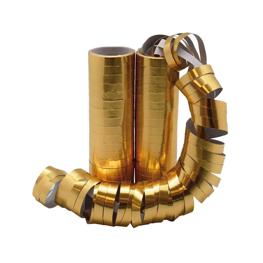 Serpentiner i Guld 4 m 2-pack