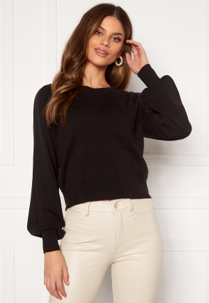 ONLY Alexa Puff L/S Pullover Black XL