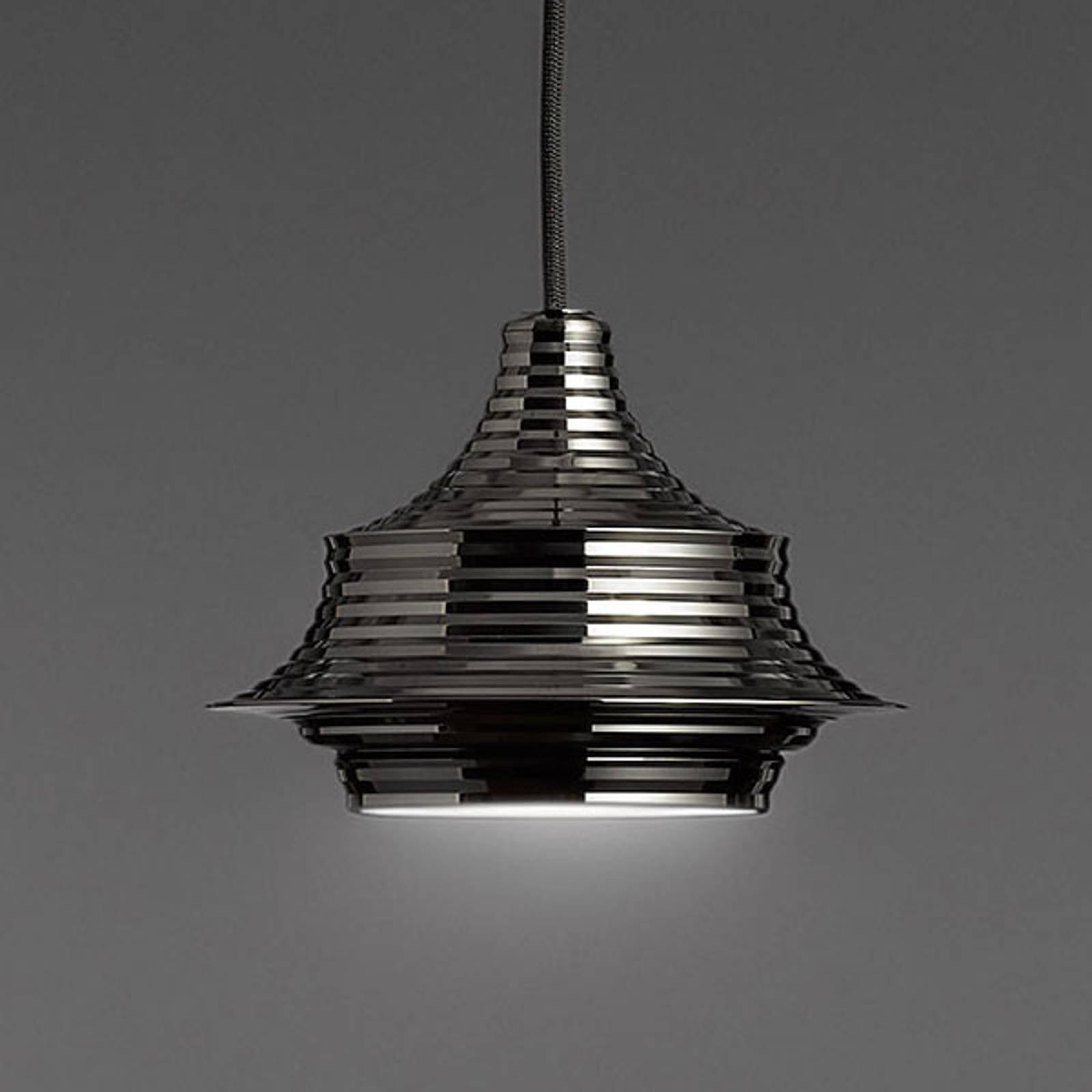 Bover Tibeta 02 - LED-pendellampe, krom-svart