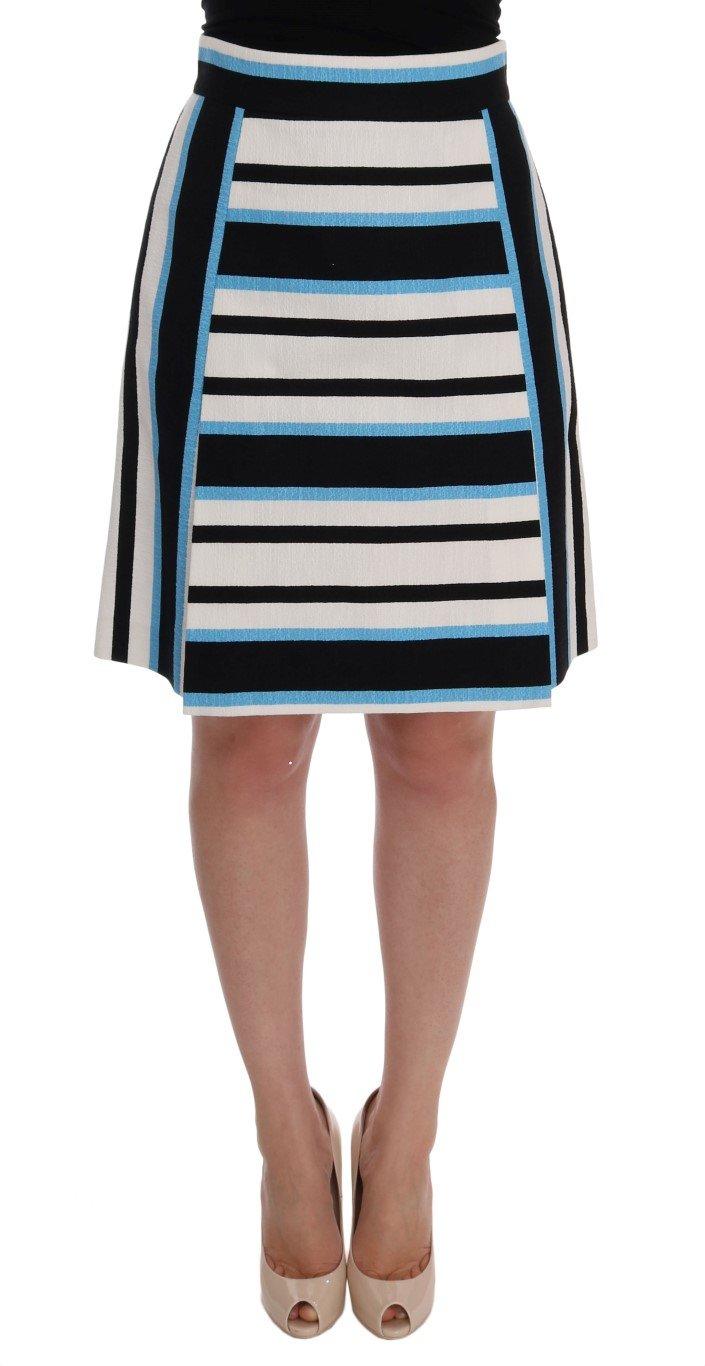Dolce & Gabbana Women's Striped Cotton Skirt Multicolor SKI1002 - IT38|XS