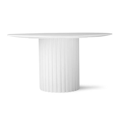 Pillar Matbord Rund White