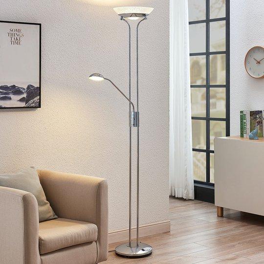 LED-uplight Dimitra m. leselampe, krom