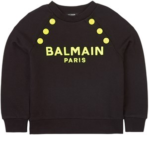 Balmain Logo Tröja Svart 4 år