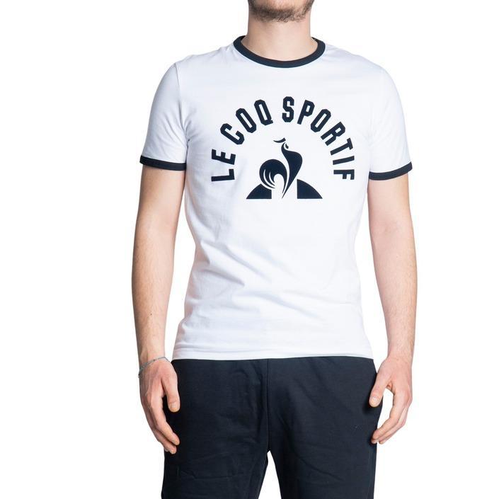 Le Coq Sportif Men's T-Shirt White 242744 - white XL