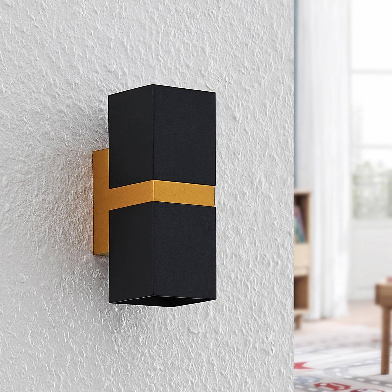 Arcchio Samsa -seinävalaisin, 2-lamppuinen musta