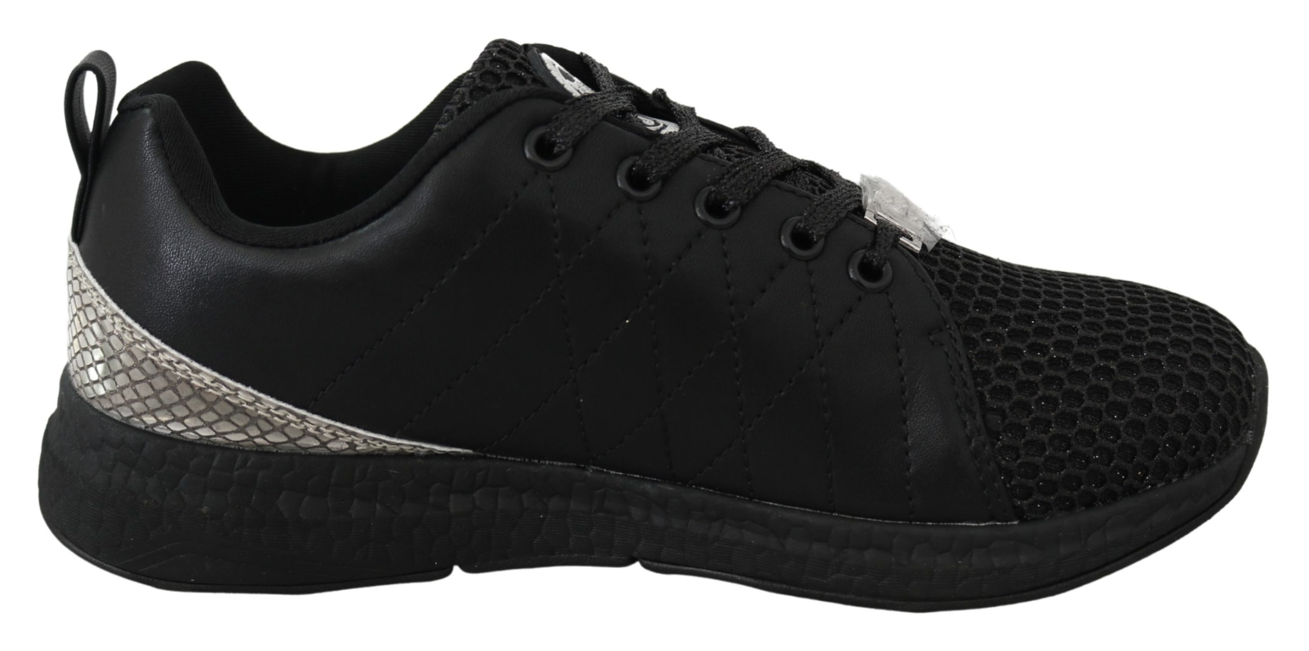 Black Polyester Runner Gisella Sneakers Shoes - EU36/US6
