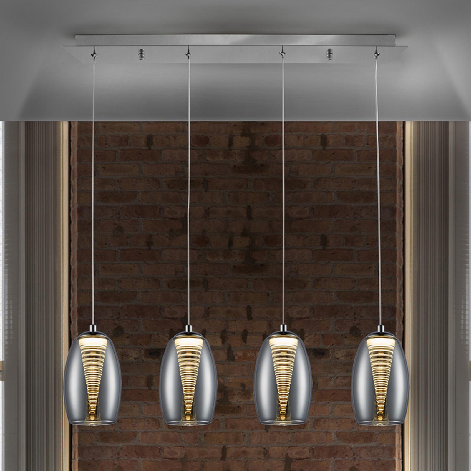 LED-riippuvalaisin Nébula, nelilamppuinen