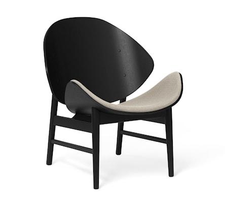 The Orange Lounge Chair S Grey Svartlackad Ek