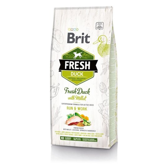 Brit Fresh Duck with Millet Active Run & Work (12 kg)